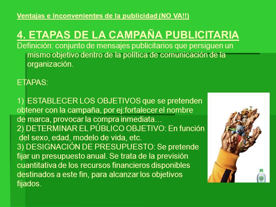 4. ETAPAS DE LA CAMPAÑA PUBLICITARIA