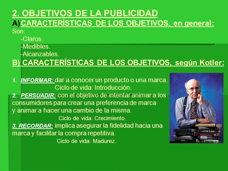2. OBJETIVOS DE LA PUBLICIDAD