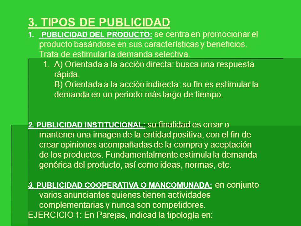 3. TIPOS DE PUBLICIDAD