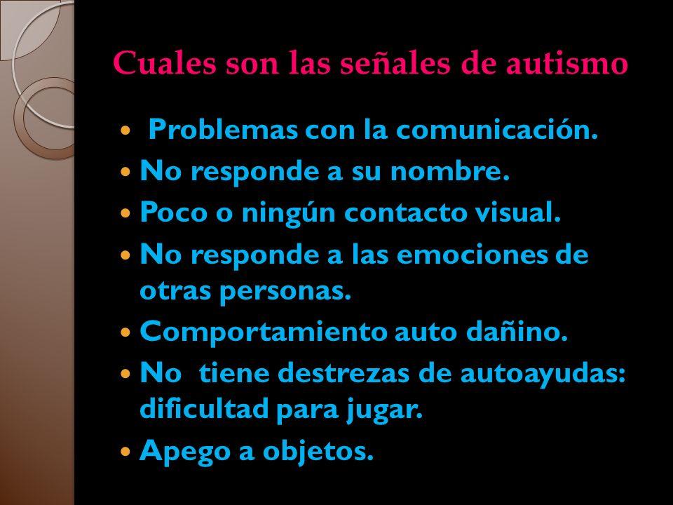 Cuales son las señales de autismo