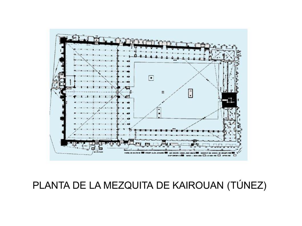 PLANTA DE LA MEZQUITA DE KAIROUAN (TÚNEZ)
