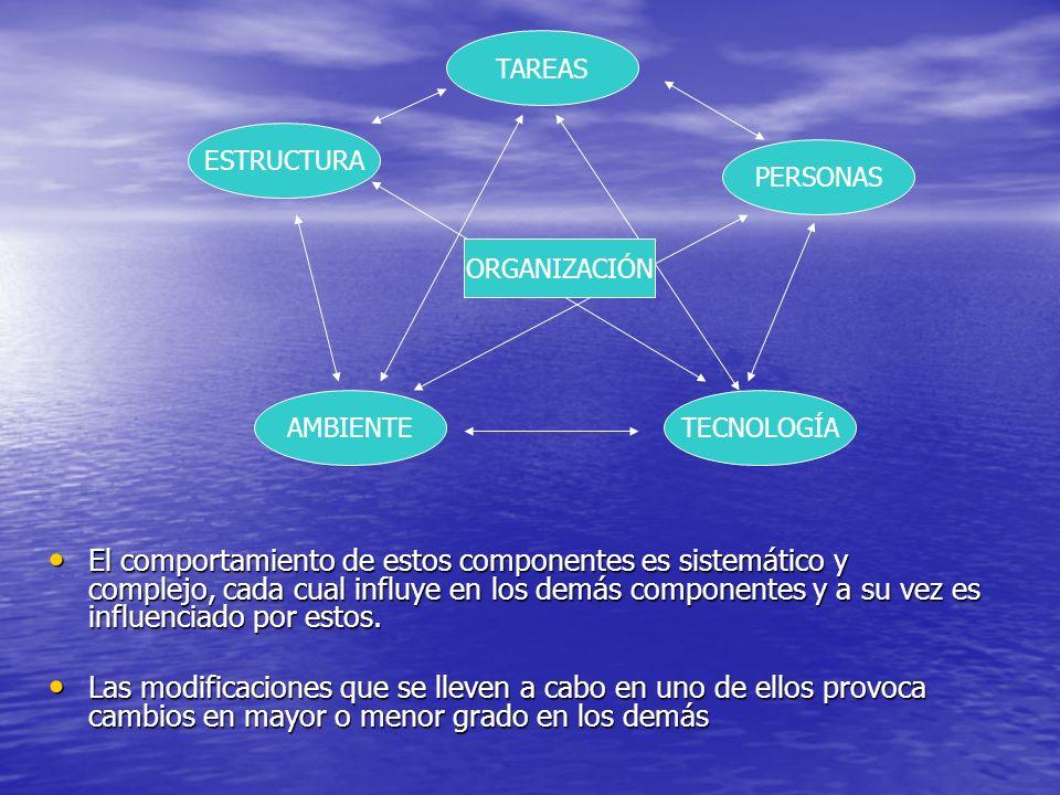 El comportamiento de estos componentes es sistemático y complejo, cada cual influye en los demás componentes y a su vez es influenciado por estos.