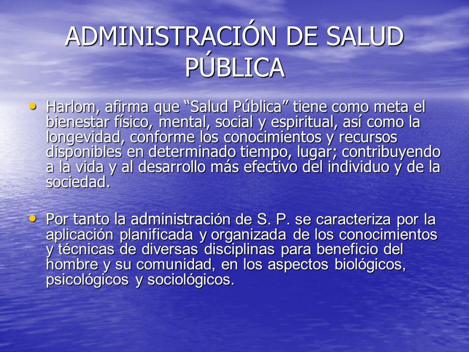 ADMINISTRACIÓN DE SALUD PÚBLICA