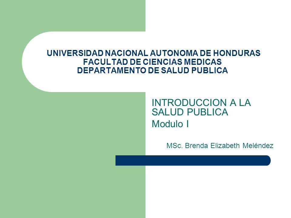 INTRODUCCION A LA SALUD PUBLICA Modulo I