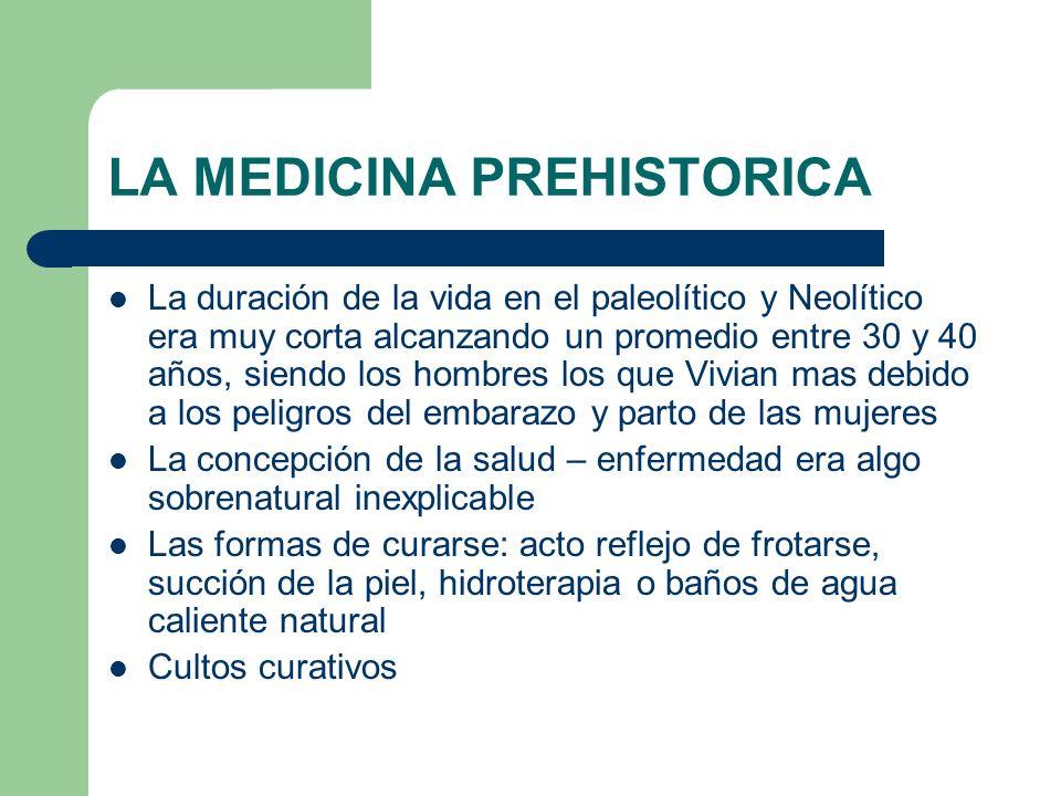 LA MEDICINA PREHISTORICA