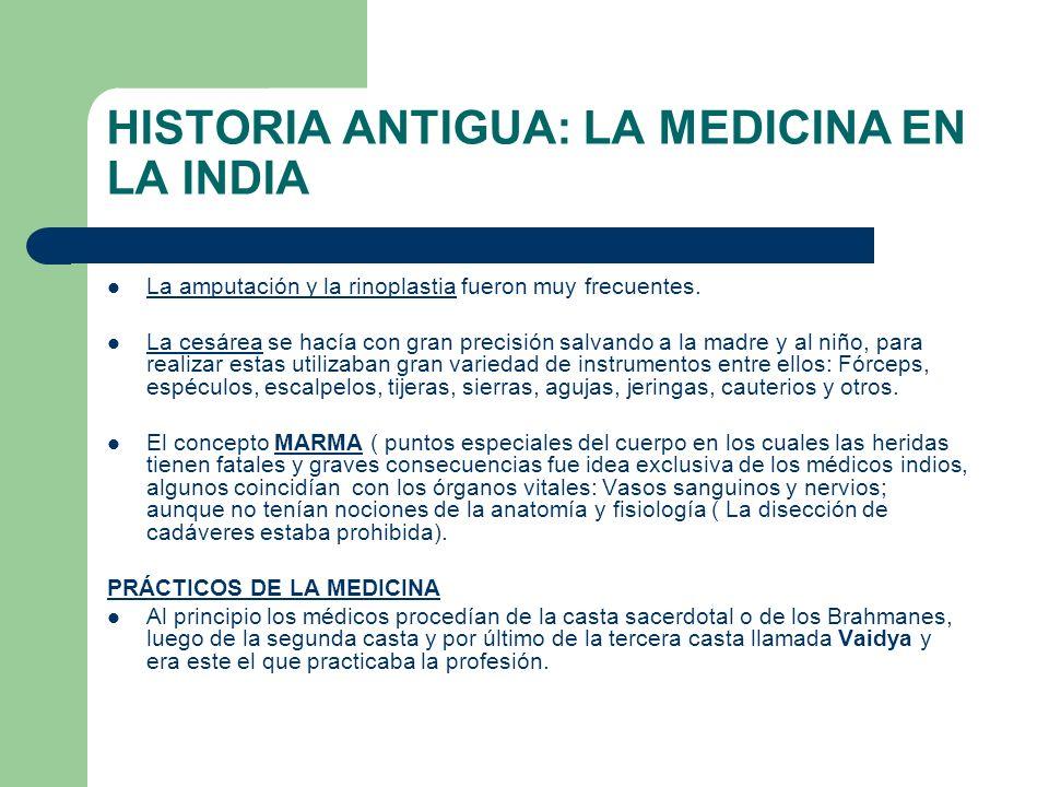 HISTORIA ANTIGUA: LA MEDICINA EN LA INDIA