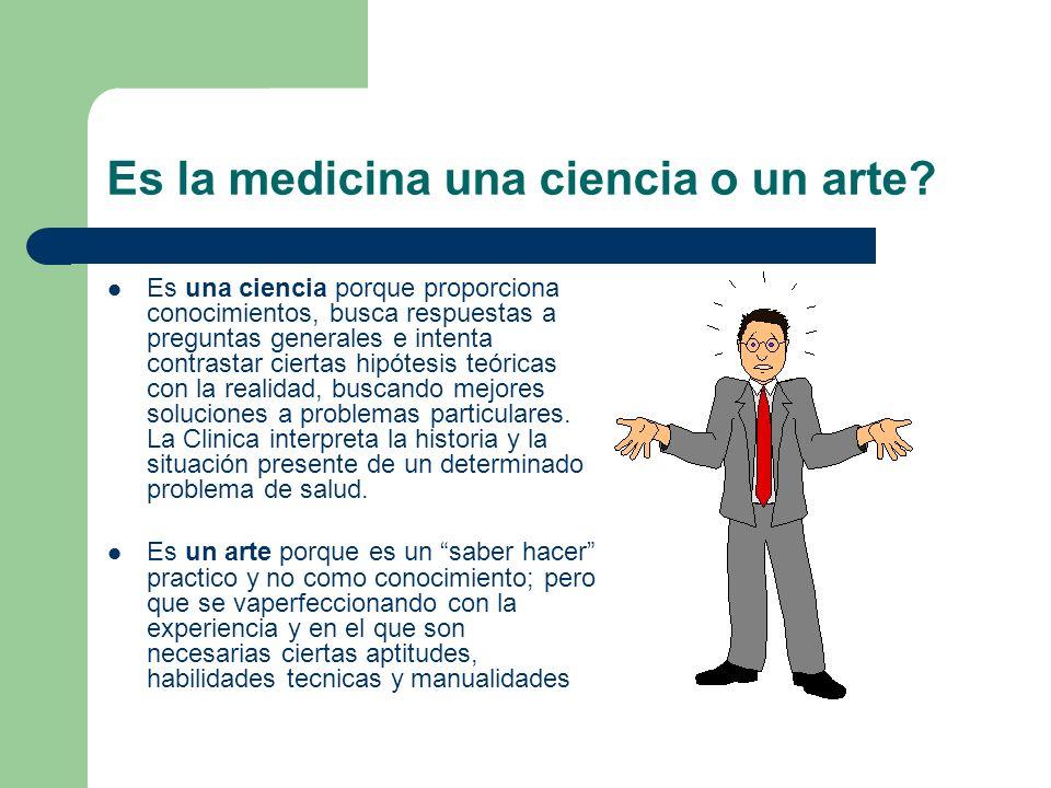 Es la medicina una ciencia o un arte