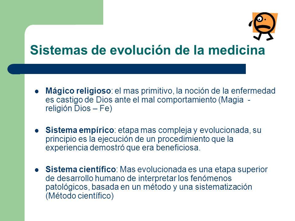 Sistemas de evolución de la medicina