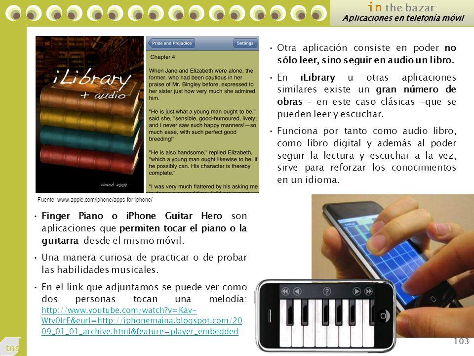 Aplicaciones en telefonía móvil