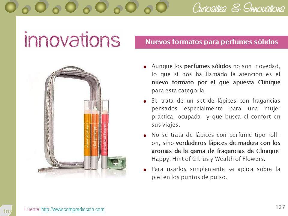 Nuevos formatos para perfumes sólidos