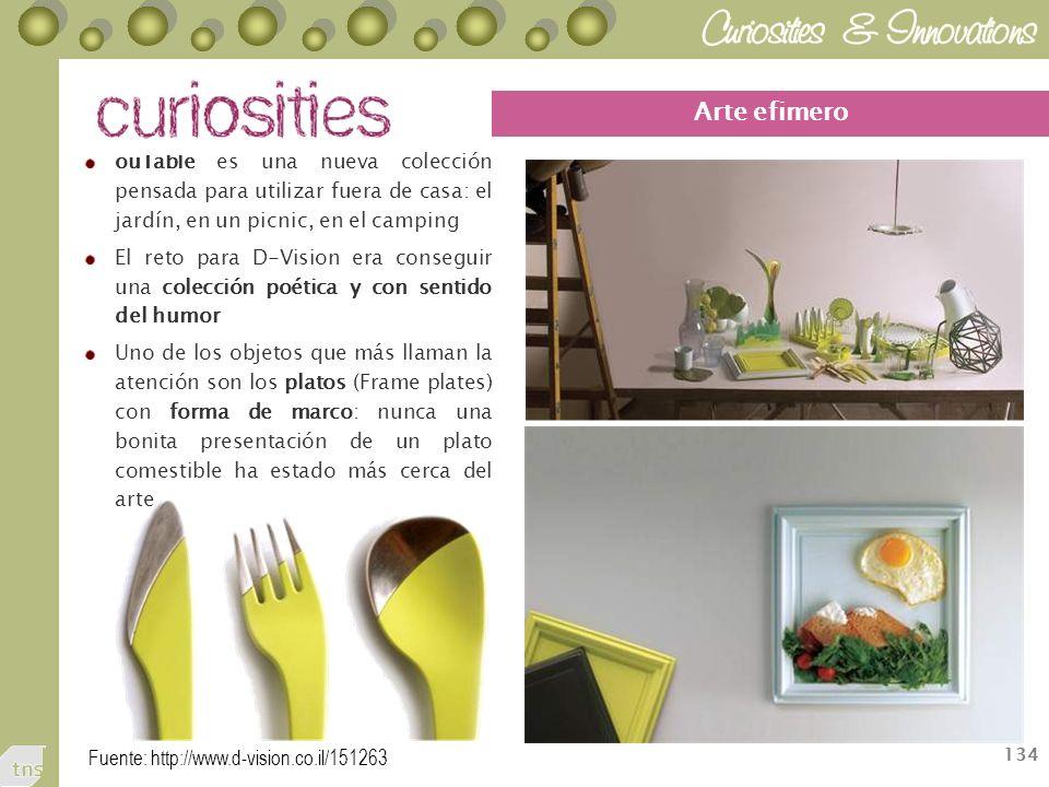 Arte efimero ouTable es una nueva colección pensada para utilizar fuera de casa: el jardín, en un picnic, en el camping.