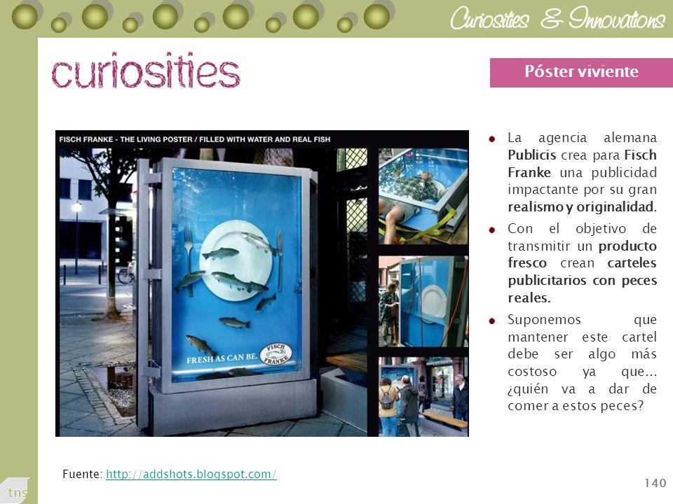 Póster viviente La agencia alemana Publicis crea para Fisch Franke una publicidad impactante por su gran realismo y originalidad.