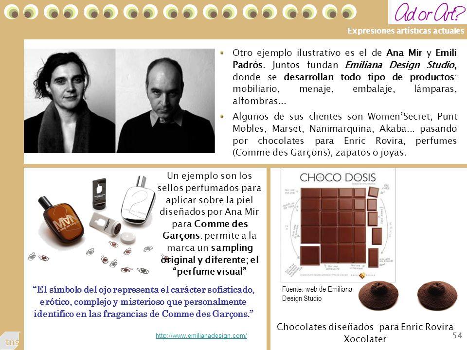 Chocolates diseñados para Enric Rovira Xocolater