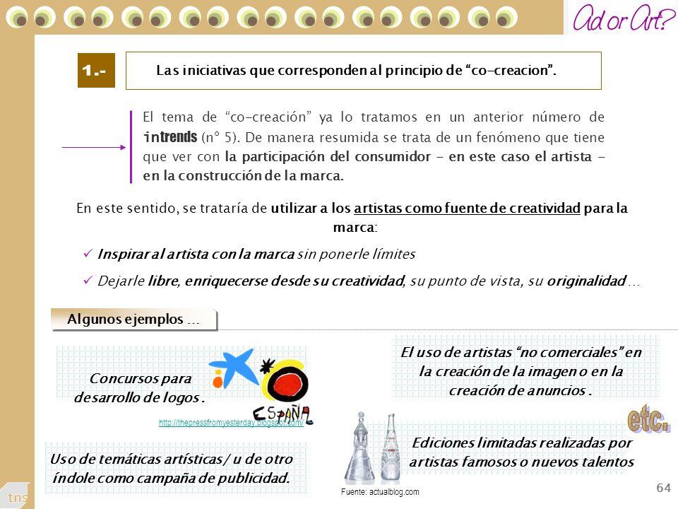 1.- Las iniciativas que corresponden al principio de co-creacion .