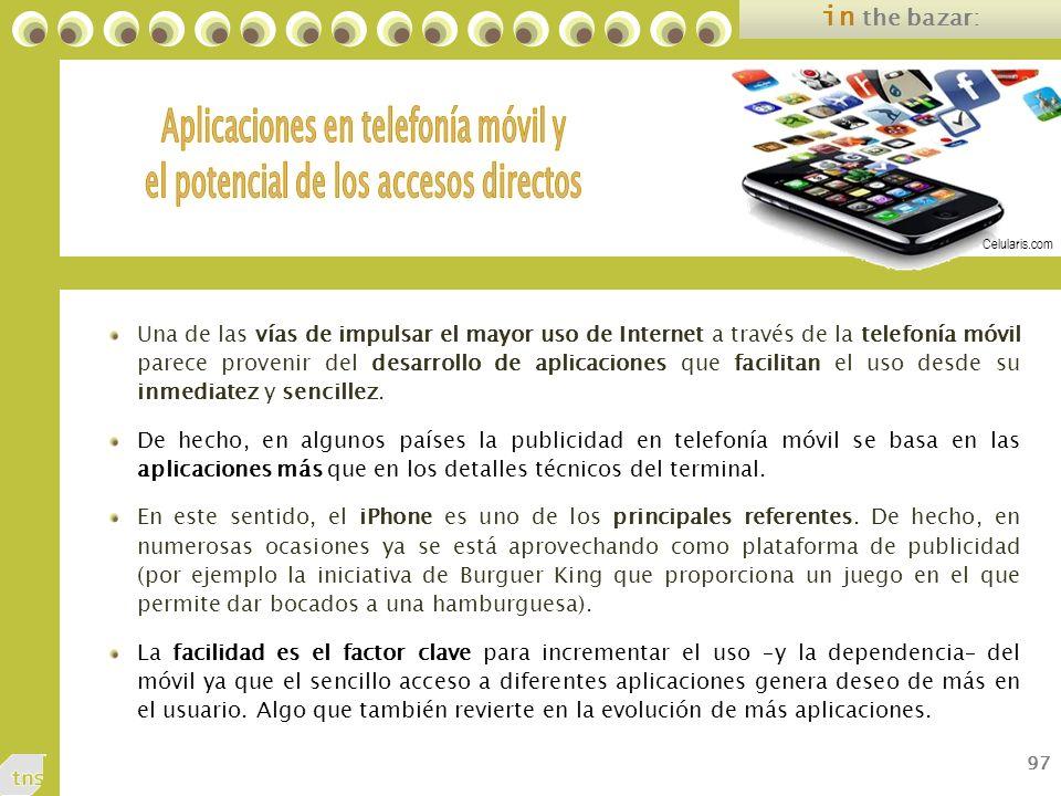 Aplicaciones en telefonía móvil y el potencial de los accesos directos