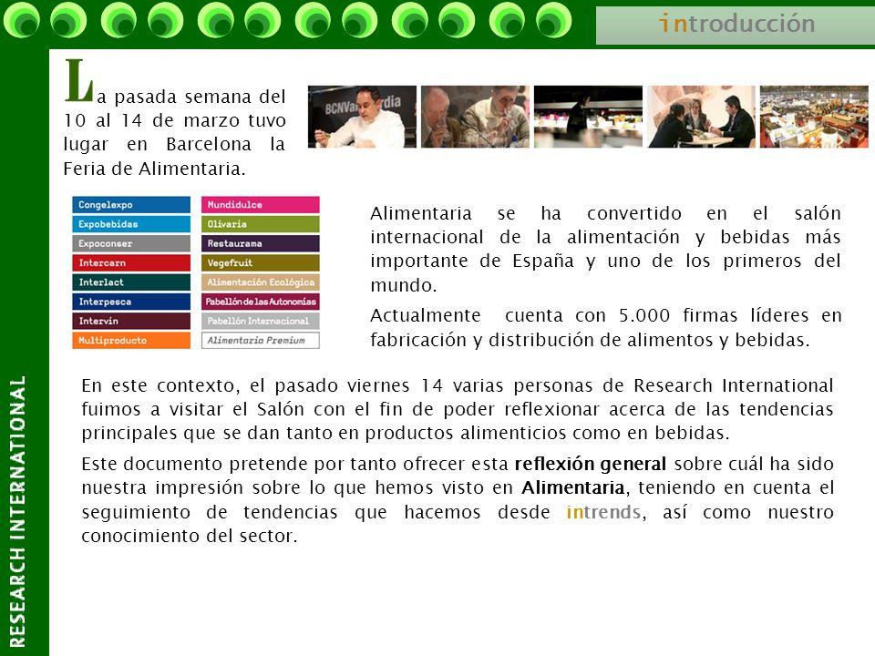 introducciónL. a pasada semana del 10 al 14 de marzo tuvo lugar en Barcelona la Feria de Alimentaria.