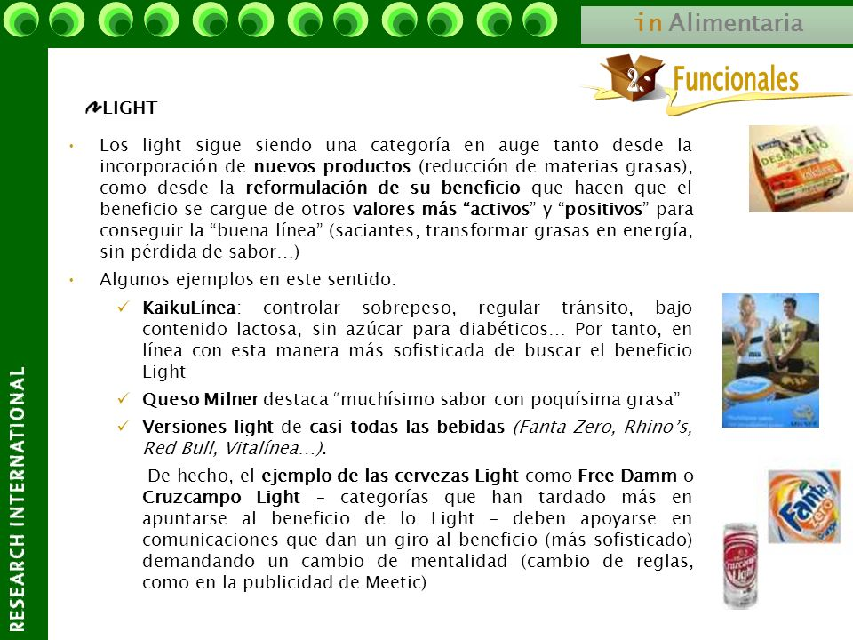 Funcionales 2.- in Alimentaria LIGHT