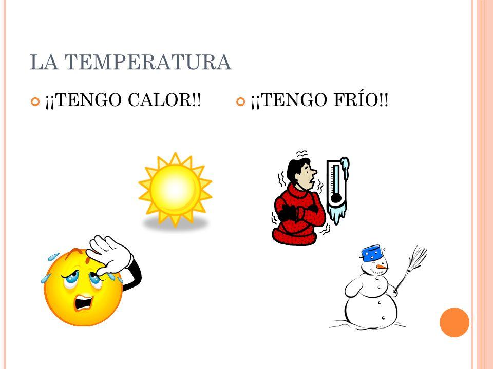 LA TEMPERATURA ¡¡TENGO CALOR!! ¡¡TENGO FRÍO!!
