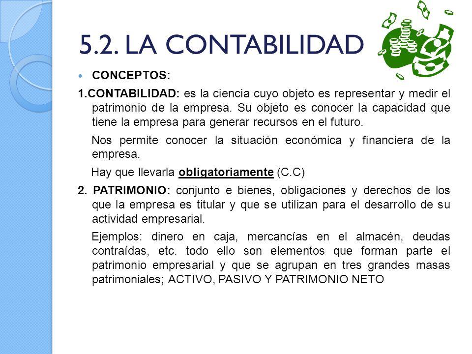 5.2. LA CONTABILIDAD CONCEPTOS: