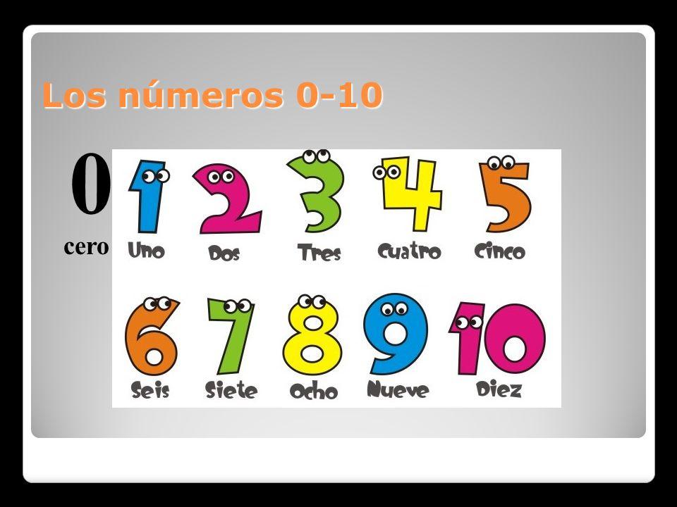 Los números 0-10 cero