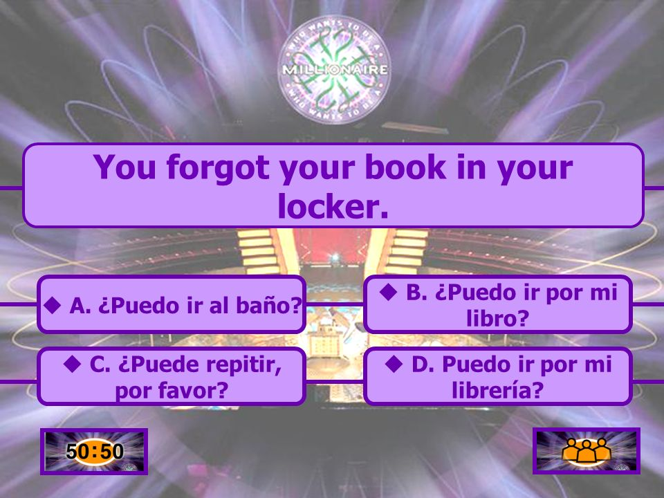 You forgot your book in your locker.