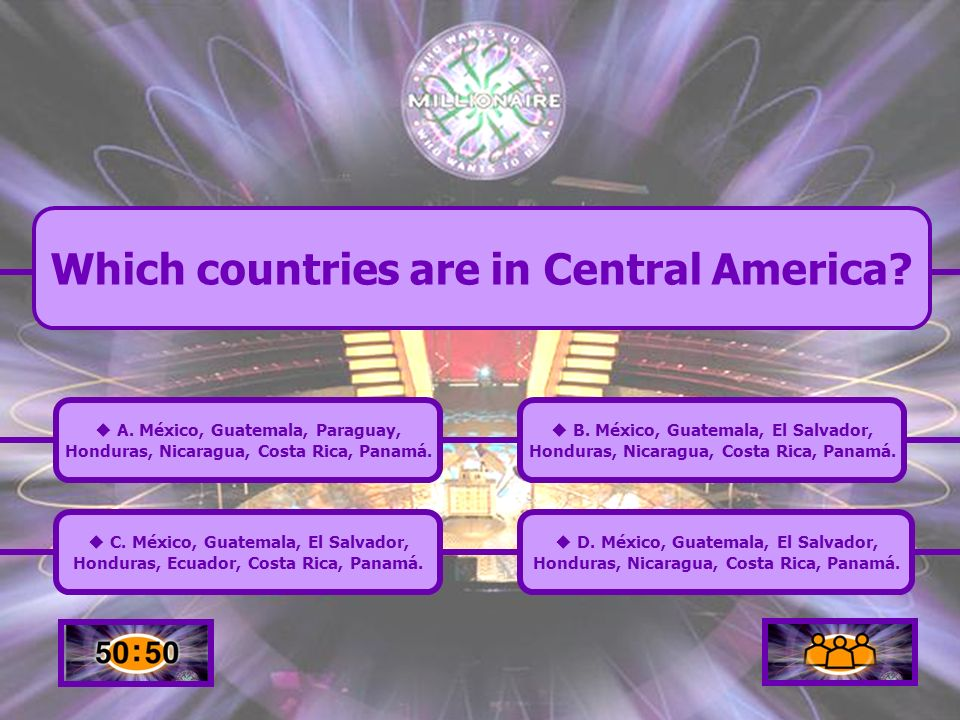 Which countries are in Central America