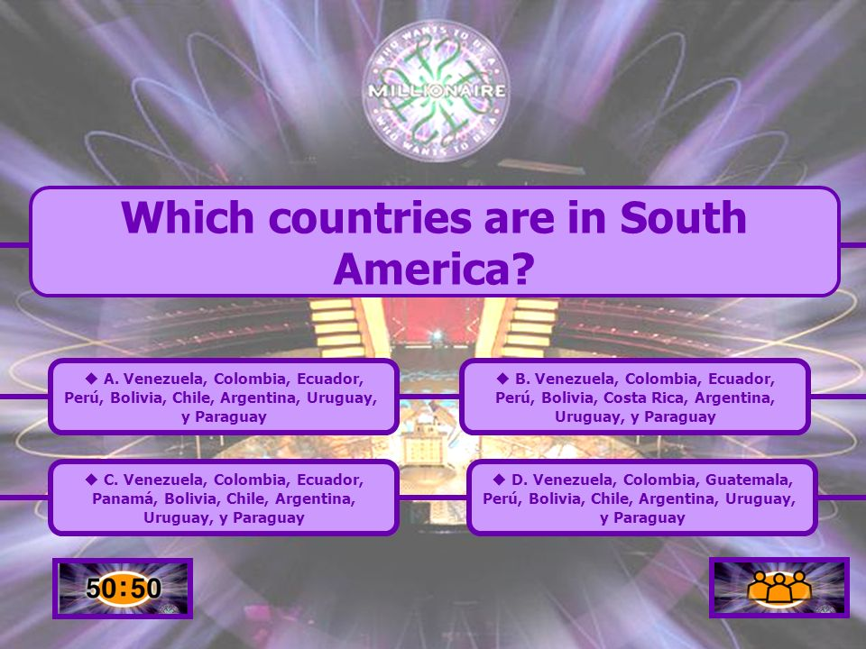 Which countries are in South America