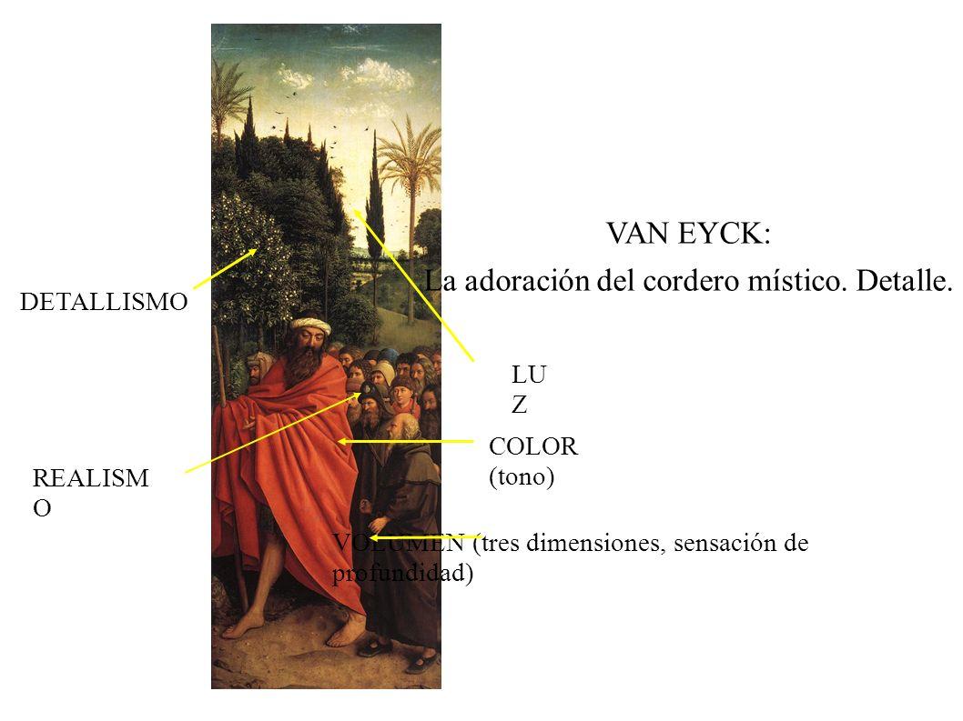 La adoración del cordero místico. Detalle.