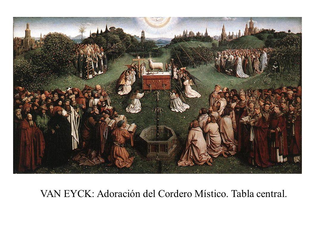 VAN EYCK: Adoración del Cordero Místico. Tabla central.
