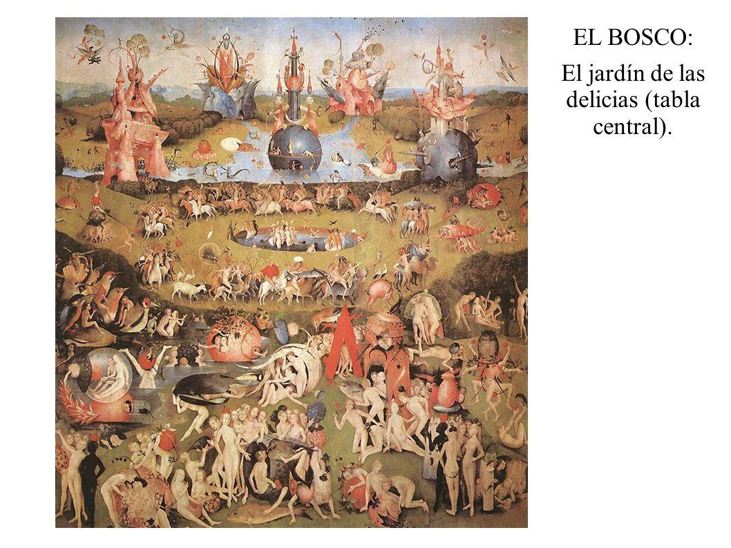 El jardín de las delicias (tabla central).