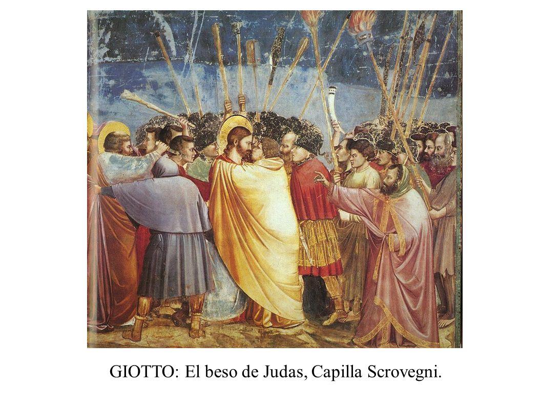 GIOTTO: El beso de Judas, Capilla Scrovegni.
