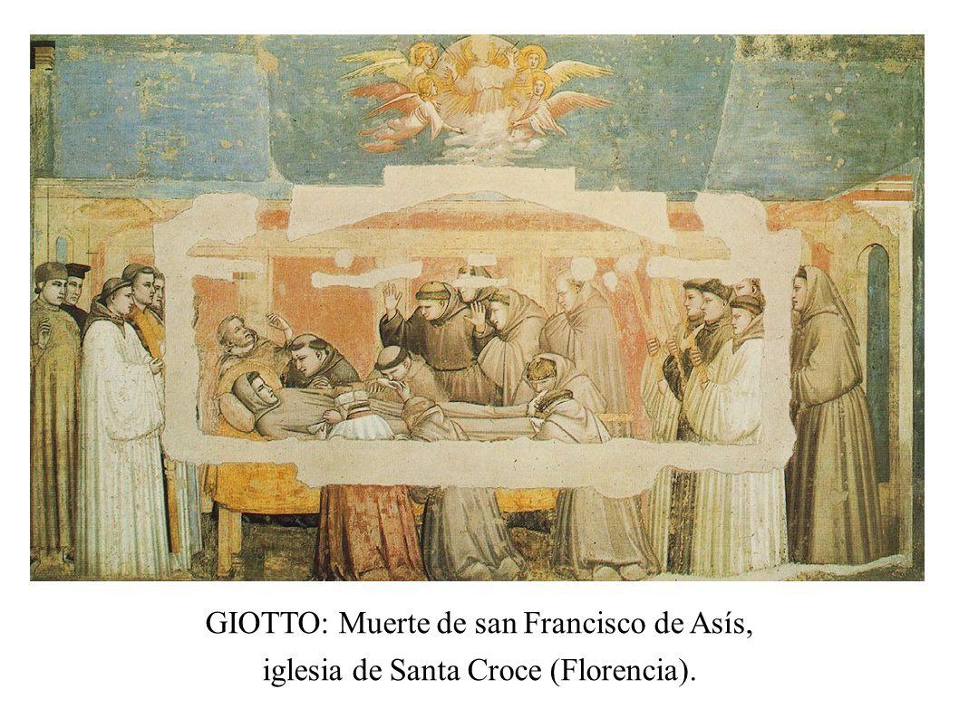 GIOTTO: Muerte de san Francisco de Asís,