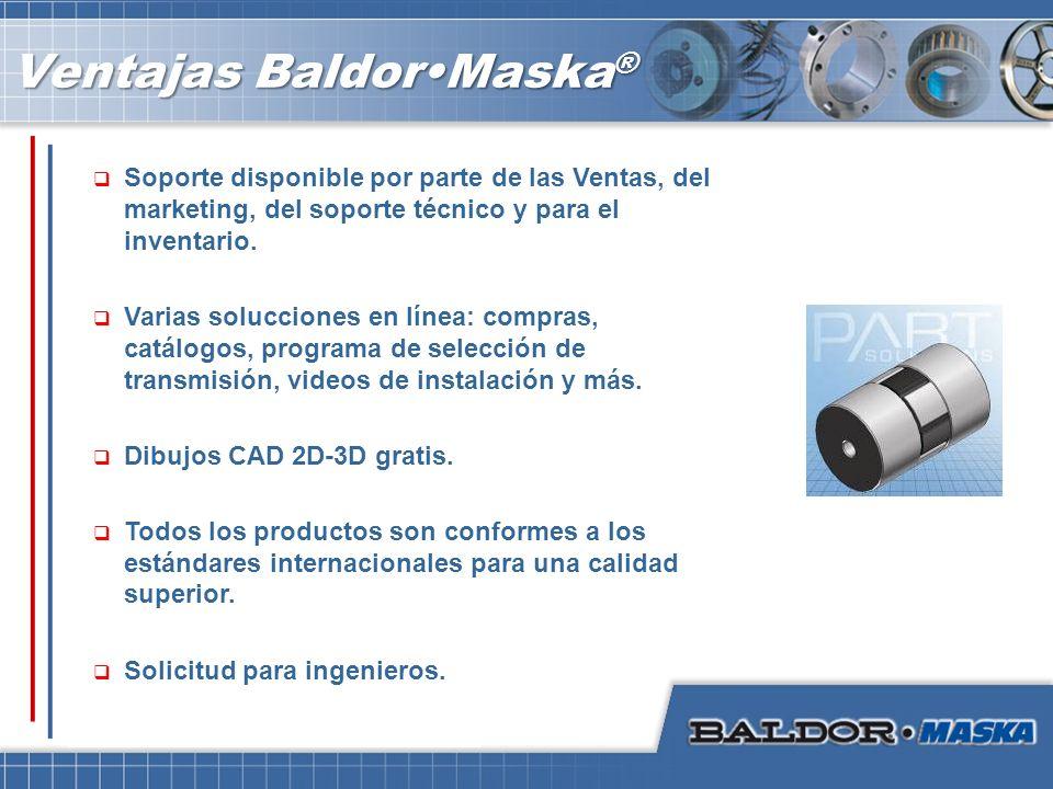 Ventajas Baldor•Maska®