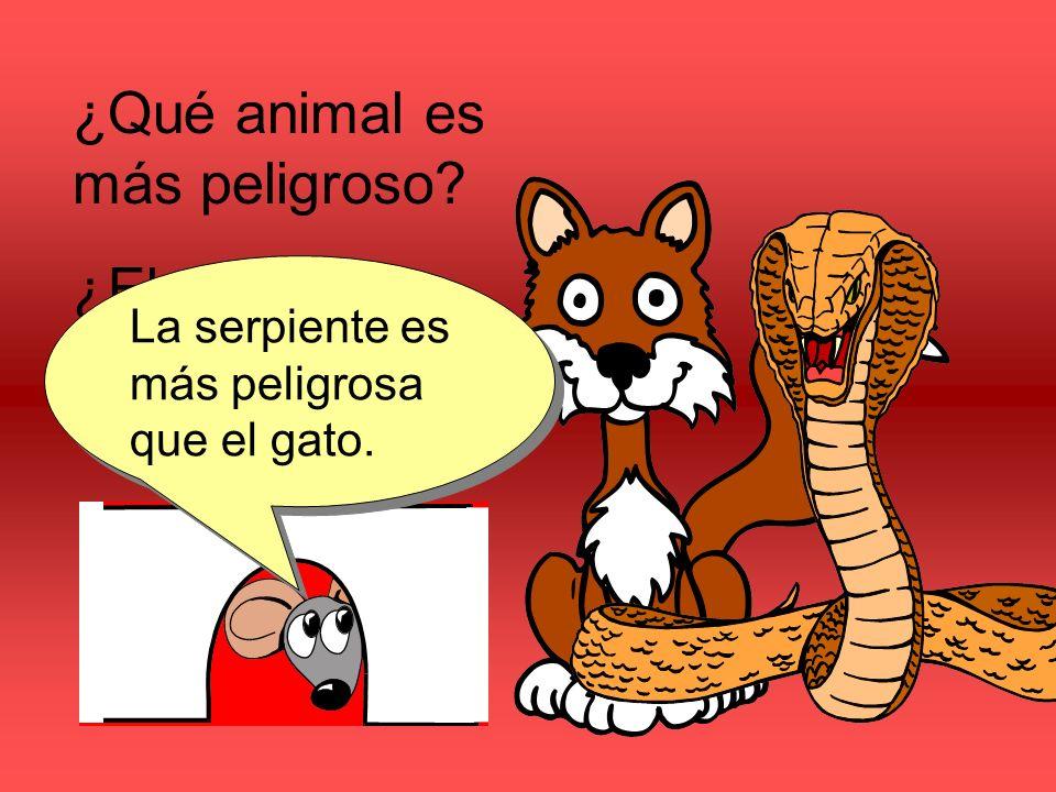 ¿Qué animal es más peligroso ¿El gato o la serpiente