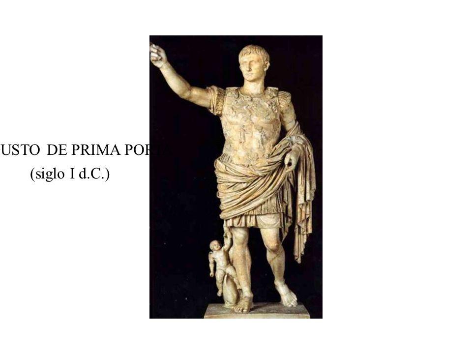 AUGUSTO DE PRIMA PORTA (siglo I d.C.)