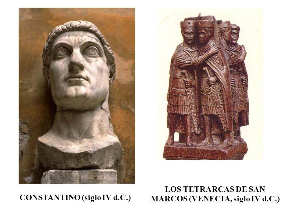 LOS TETRARCAS DE SAN MARCOS (VENECIA, siglo IV d.C.)