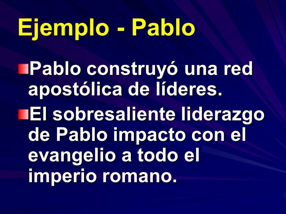 Ejemplo - Pablo Pablo construyó una red apostólica de líderes.