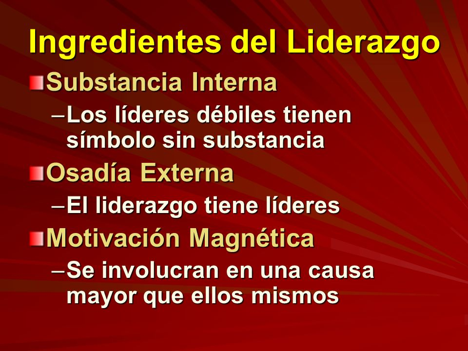 Ingredientes del Liderazgo