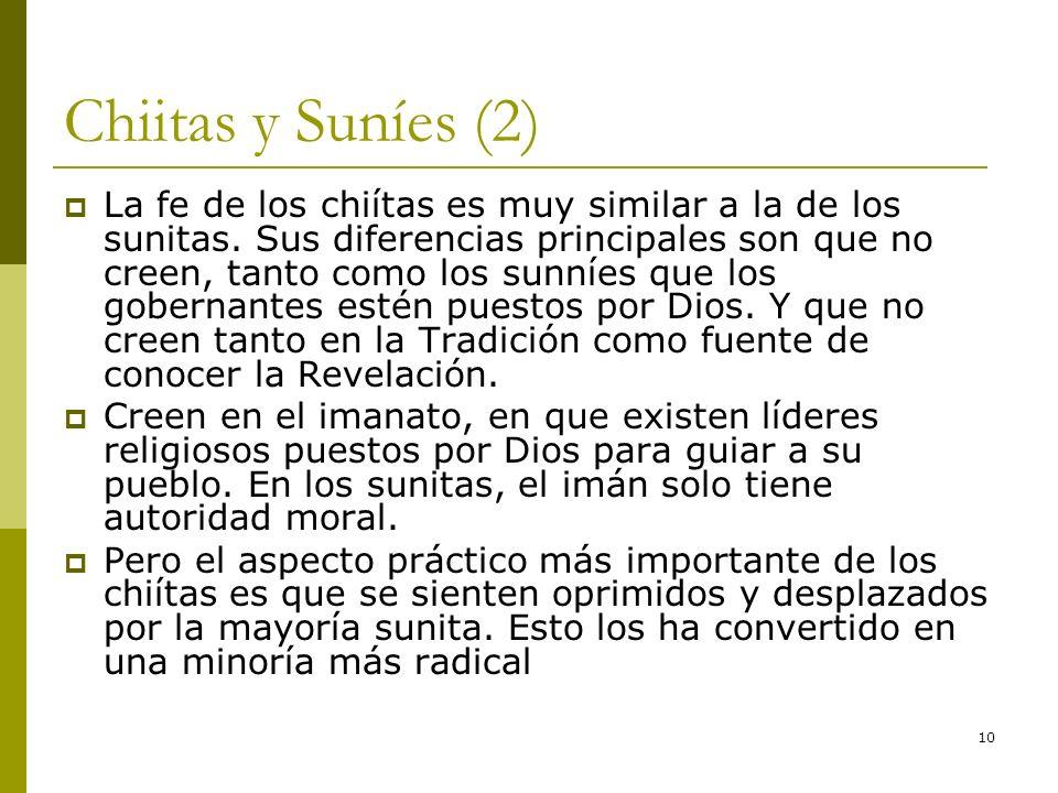 Chiitas y Suníes (2)