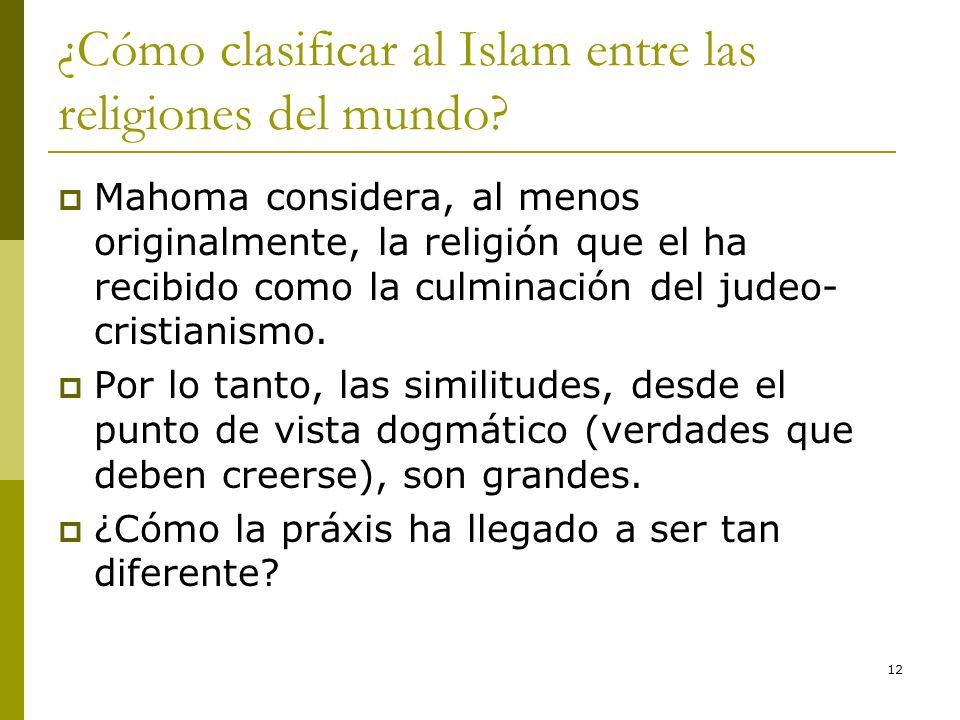 ¿Cómo clasificar al Islam entre las religiones del mundo
