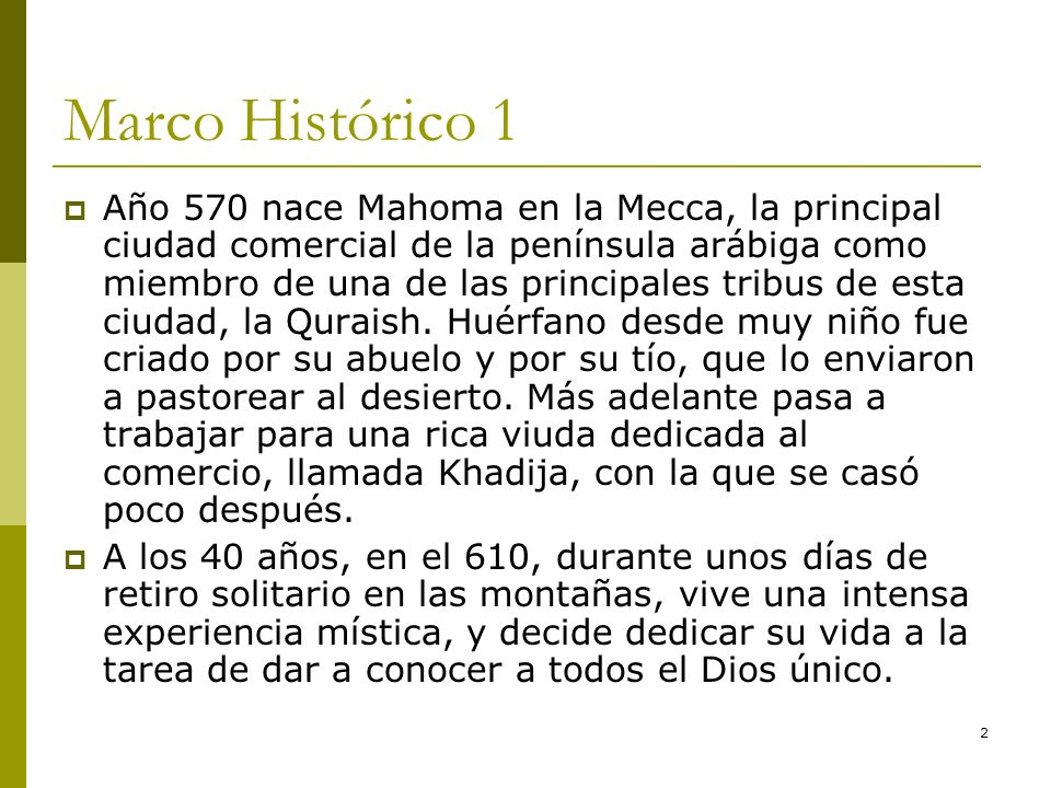 Marco Histórico 1