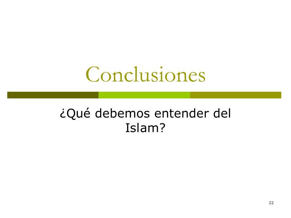 ¿Qué debemos entender del Islam