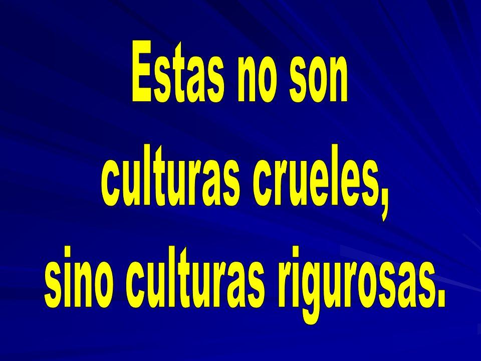 sino culturas rigurosas.