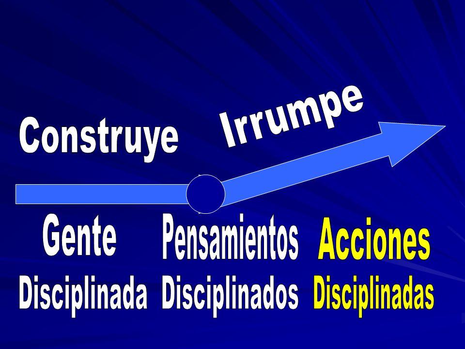 Irrumpe Construye Gente Pensamientos Acciones Disciplinada Disciplinados Disciplinadas