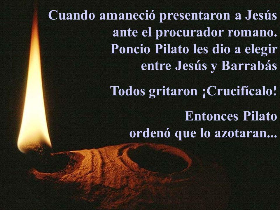 Cuando amaneció presentaron a Jesús ante el procurador romano.