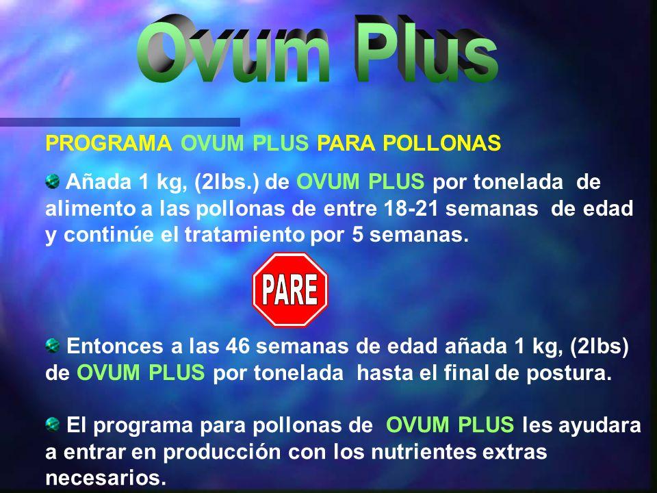 Ovum Plus PARE PROGRAMA OVUM PLUS PARA POLLONAS