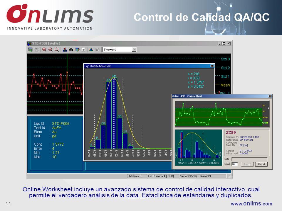 Control de Calidad QA/QC
