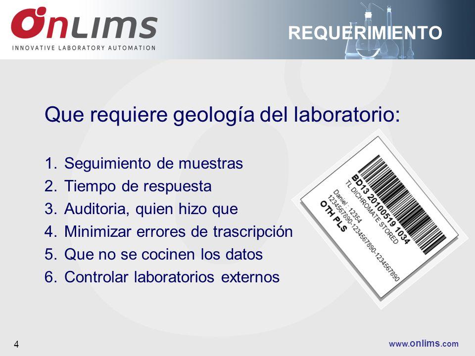 Que requiere geología del laboratorio: