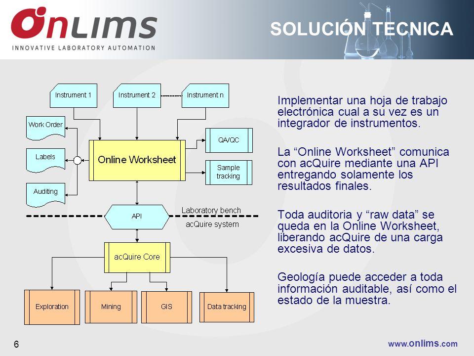 SOLUCIÓN TECNICAImplementar una hoja de trabajo electrónica cual a su vez es un integrador de instrumentos.