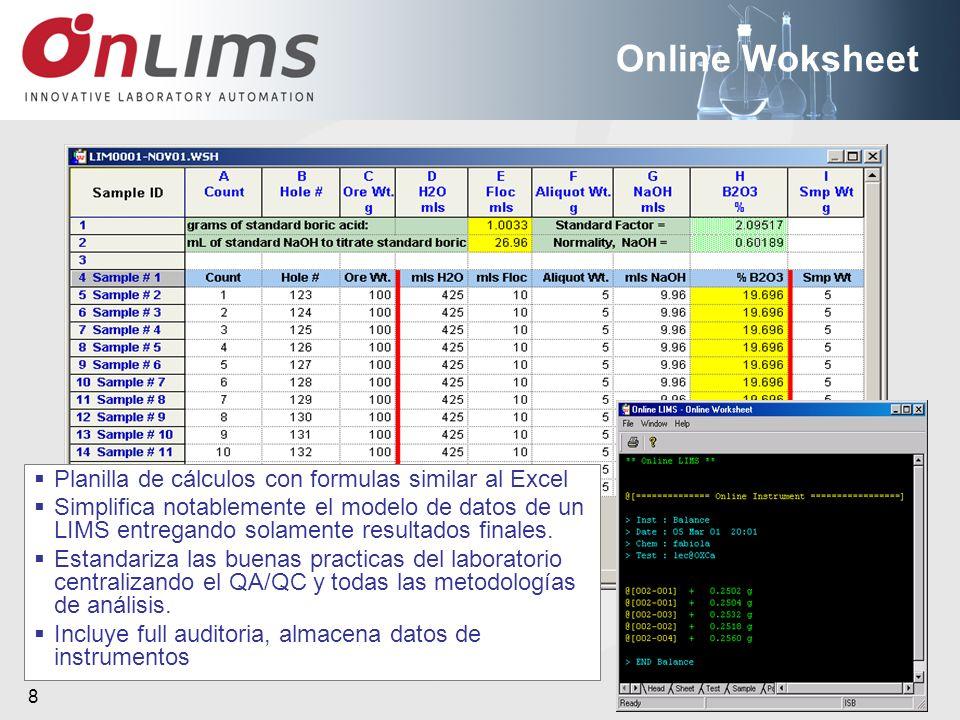 Online Woksheet Planilla de cálculos con formulas similar al Excel
